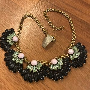 J. CREW necklace retro layered chunky fan